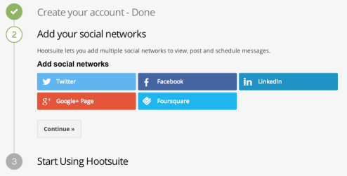 Sign up for Hootsuite