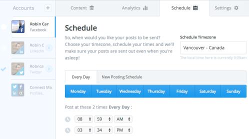 Buffer App Scheduling